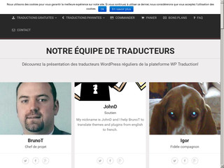 Détails : Traduction de thèmes & plugins WordPress
